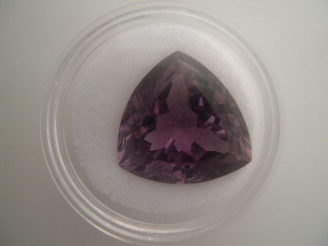 Amethyst Gemstone - Dark - Faceted