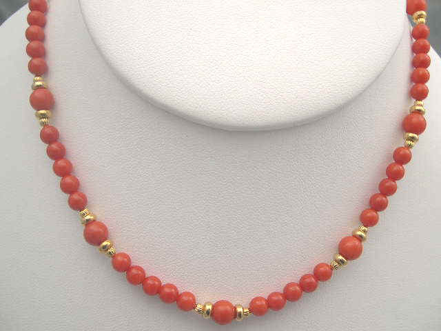 red corals necklace