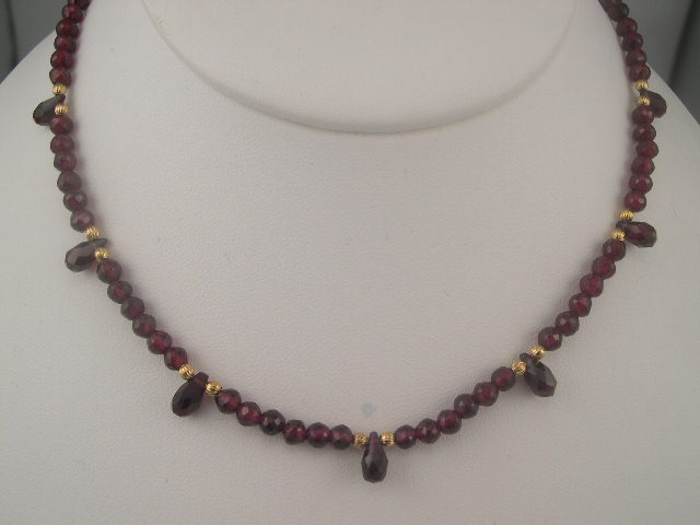 Facetted Garnet Necklace