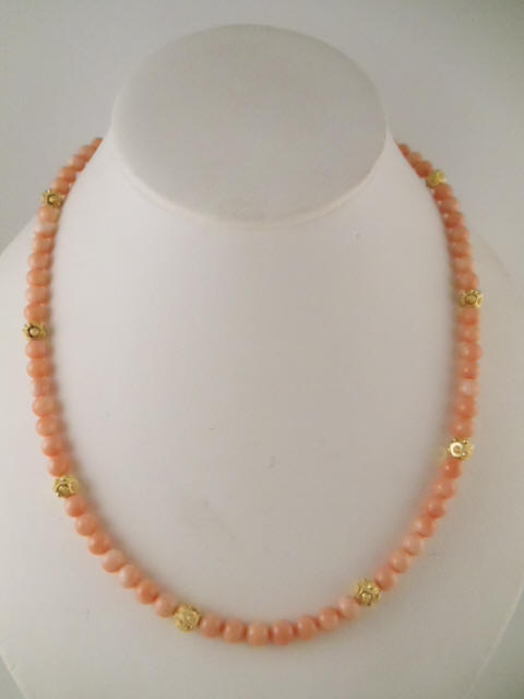 Pink coral necklaces many designs with natural pink corals mother of pearl necklace made with mother of pearl beads genuine pink coral marquise pendant 18 necklace us 25 itemcn 104 mozeypictures Gallery