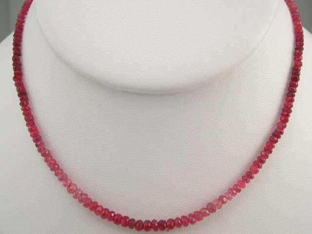 Spinel Shade Faceted Single Layer Necklace