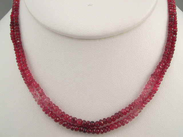 Spinel Shade Faceted Two Layer Necklace