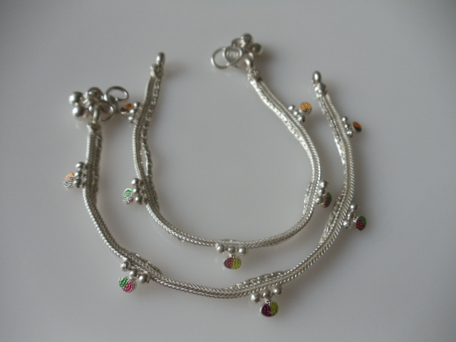 jewelry by inch anklet sterling bling anklets the cz five silver